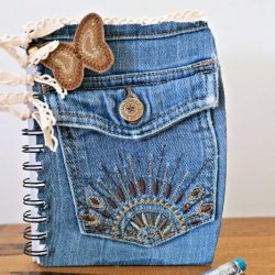 DIY Back to School Denim Notebook