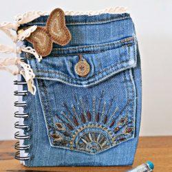 DIY Back to School Denim Notebook