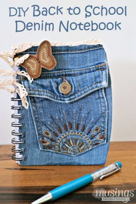 DIY Back to School Denim Notebook - Musings From a Stay At Home Mom