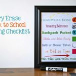 Dry Erase Back to School Evening Checklist
