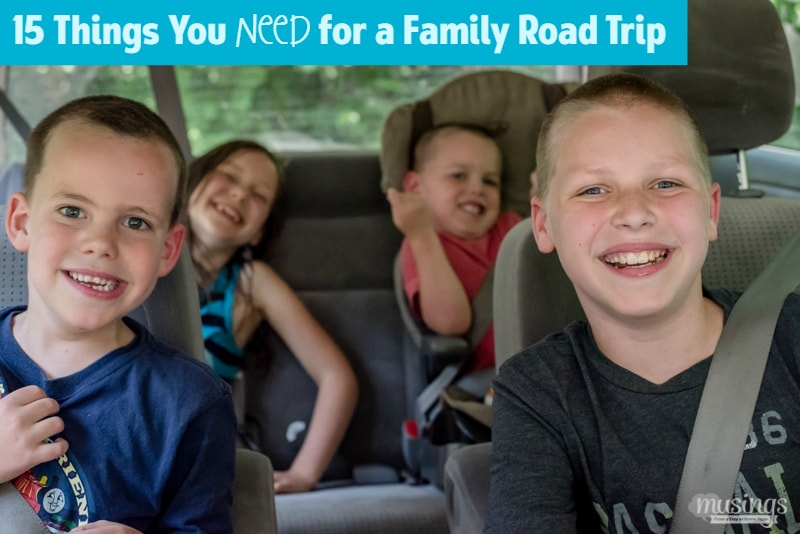 15 Things You Need for a Family Road Trip, including tips for happy kids on LONG trips! {From a mom who travels 800+ miles with her four kids!)