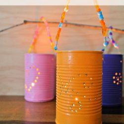 Fun Summer DIY Tin Lanterns