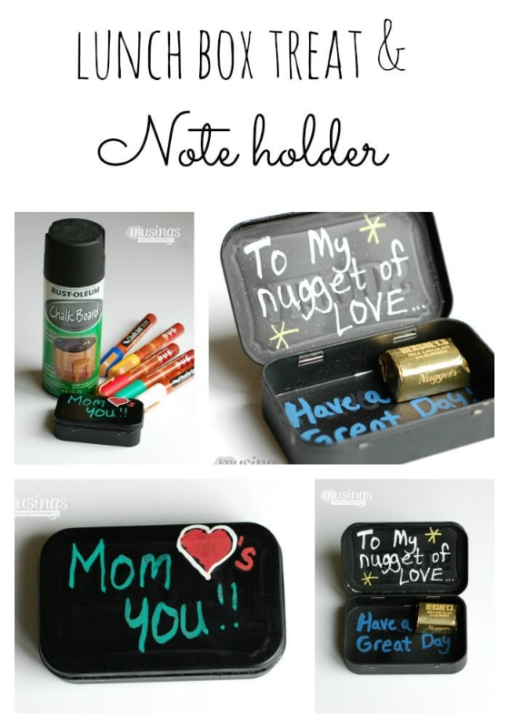This simple DIY Lunch Box Note & Treat Holder is a great way to upcycle an old tin, plus your children will love the little notes & treats you send them as they head back to school!