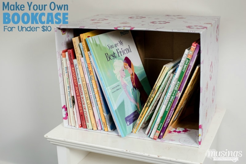 make your own bookcase for under 10 living well mom