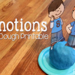 Playdough Fun with Emotions + Free Printables