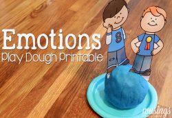Playdough Fun with Emotions + Free Printables