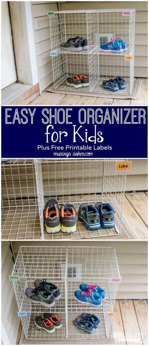 Keep Your Kids Shoes Organized With This Easy Diy Shoe Organizer Since Each Child