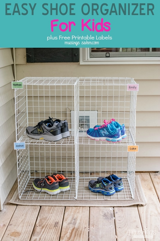 Easy Shoe Organizer For Kids Living Well Mom