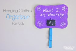 Back-to-School Hanging Clothes Organizer for Kids