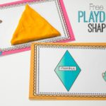Preschool Learning with Playdough Shape Mats