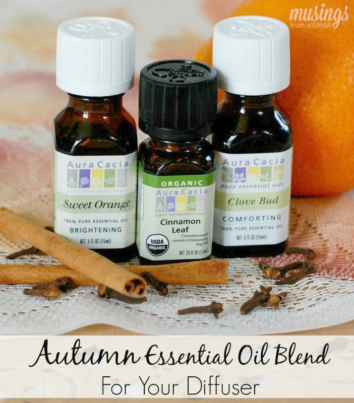 This Autumn Essential Oil Blend is a delightful way to fill your home with fragrant autumn scents. It's easy to blend, then simply add to your diffuser.