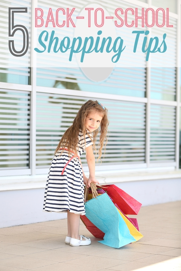 5 Simple Back-to-School Shopping Tips to help busy moms save time and money! Plus a free printable scavenger hunt for kids!