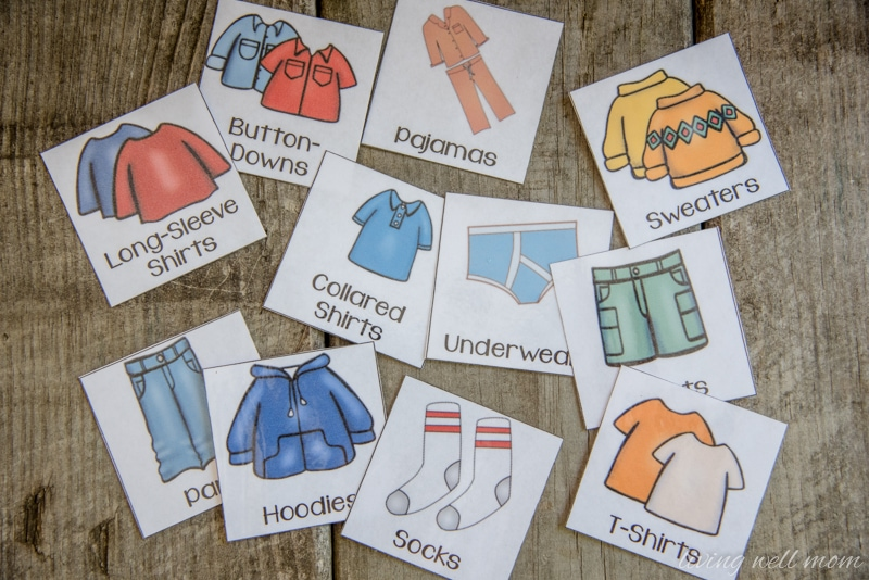 The Easy Way To Organize Kids Clothes With Free Printable