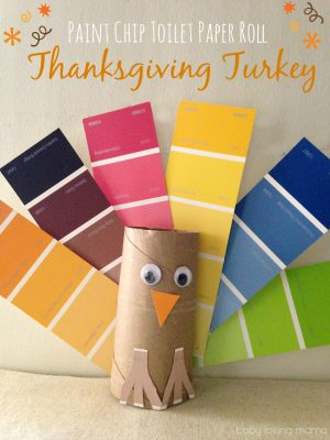 Paint Chip Turkey Craft