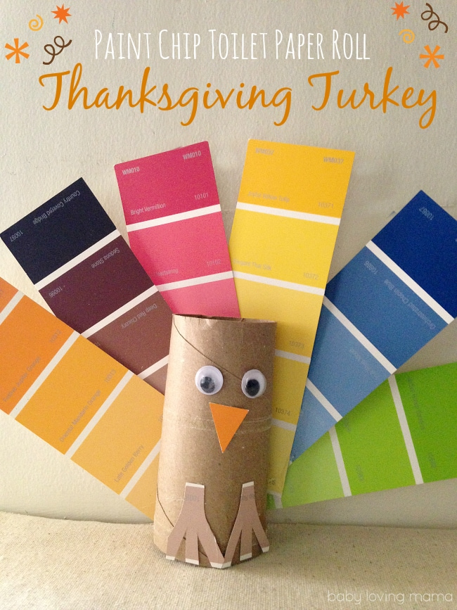 Paint-Chip-Toilet-Paper-Roll-Turkey-Craft-for-Thanksgiving