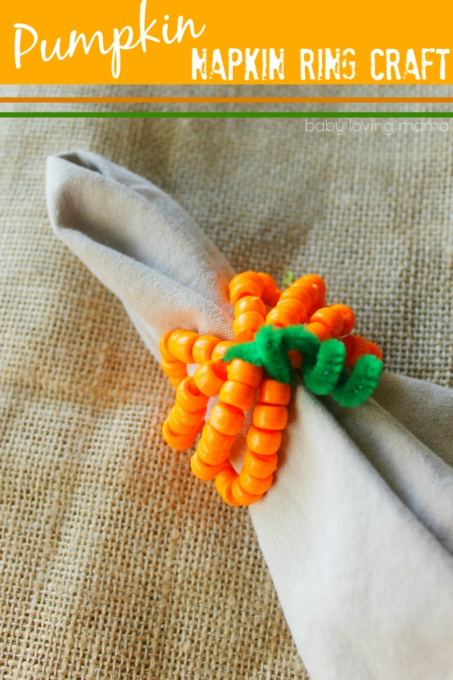 Pumpkin-Napkin-Ring-Craft