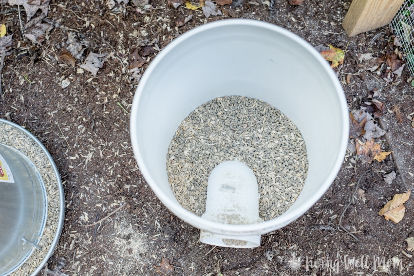 chicken bucket feeder - Come tour our chicken coop. I'll show you around our homemade coop and share a few tricks we've learned about keeping backyard chickens.