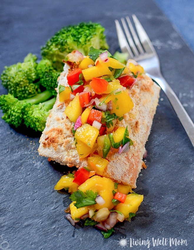 Paleo Coconut Crusted Salmon