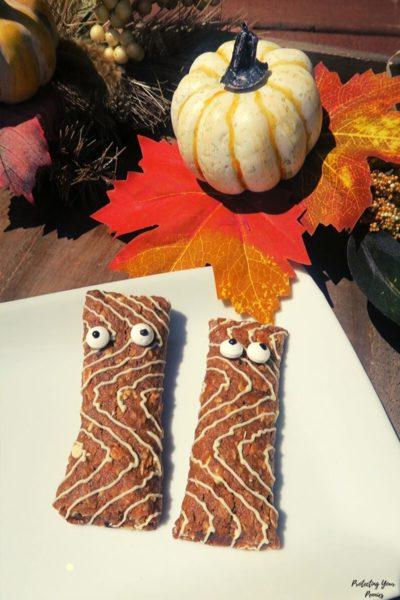 halloween mummy clif kids bars snack