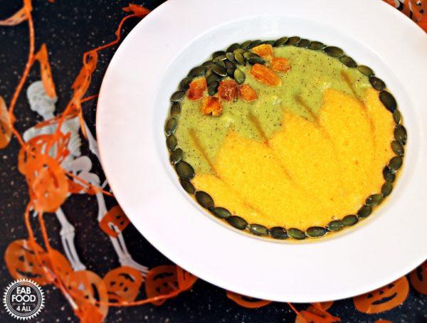 halloween pumpkin smoothie bowl