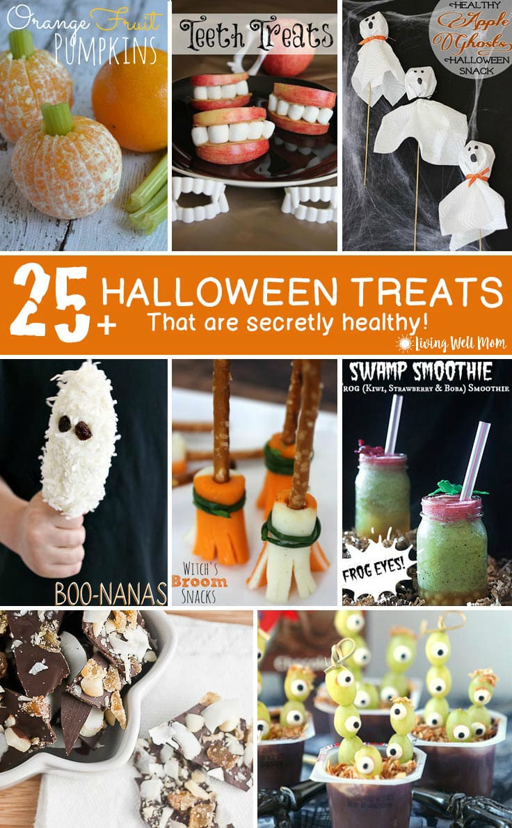 25+ healthy halloween treats for kids - living well mom