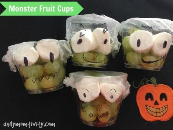 monster fruit cups grapes frankenstein