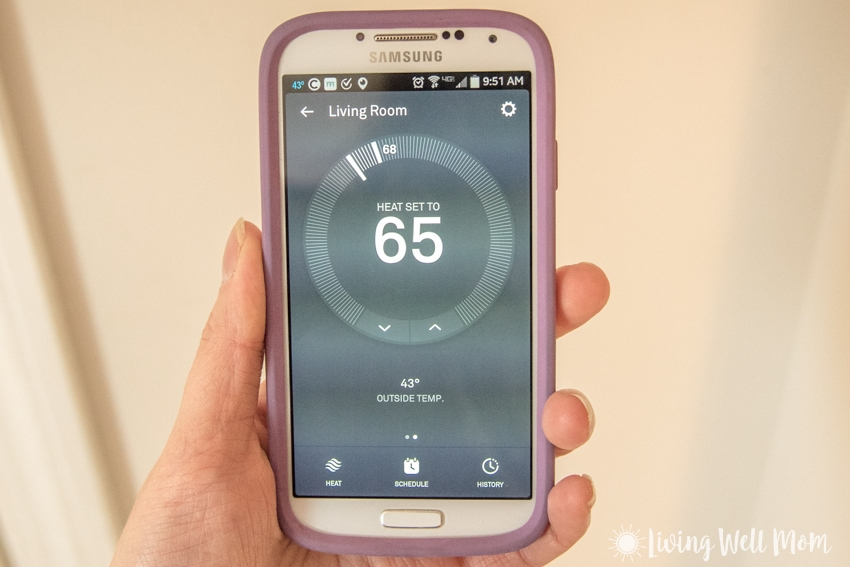 Nest thermostat app