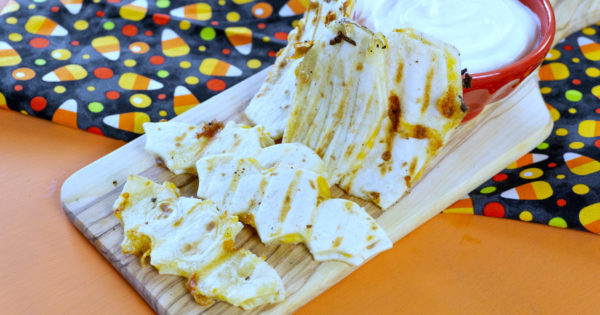 bats and coffins halloween quesadillas