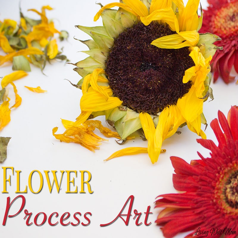 Sunflower Process Art is a wonderful way for kids to explore nature and use their imagination. They'll love turning beautiful fall sunflowers into creative art with this fun activity.
