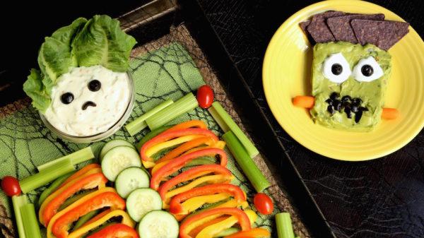 skeleton vegetable tray
