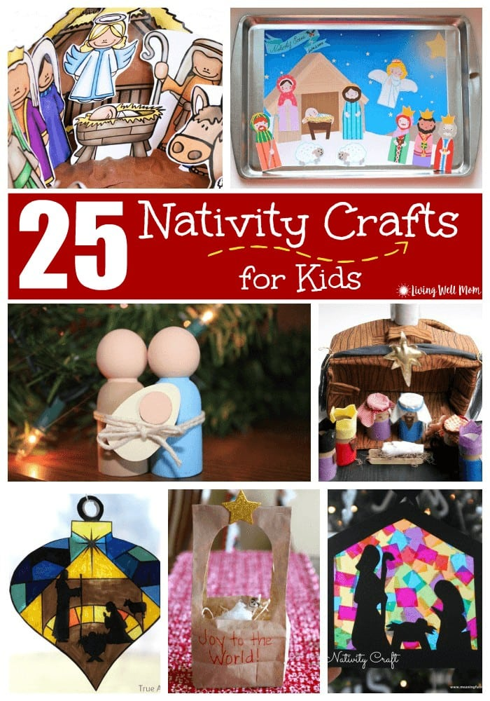 25 fun nativity crafts that kids will love. With simple no-mess coloring pages, free printable nativities, a miniature nativity scene, and more, there's something for just about every age range here.