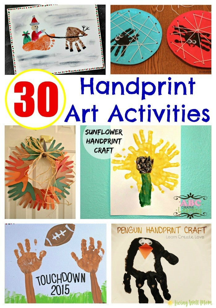 From Monsters Inc, Ninja Turtles, and ballerinas to Santa's sleigh, the Grinch, snowmen, and more, here's 30 brilliant Handprint Art ideas for Kids!