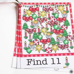 Christmas Printable I Spy Cards