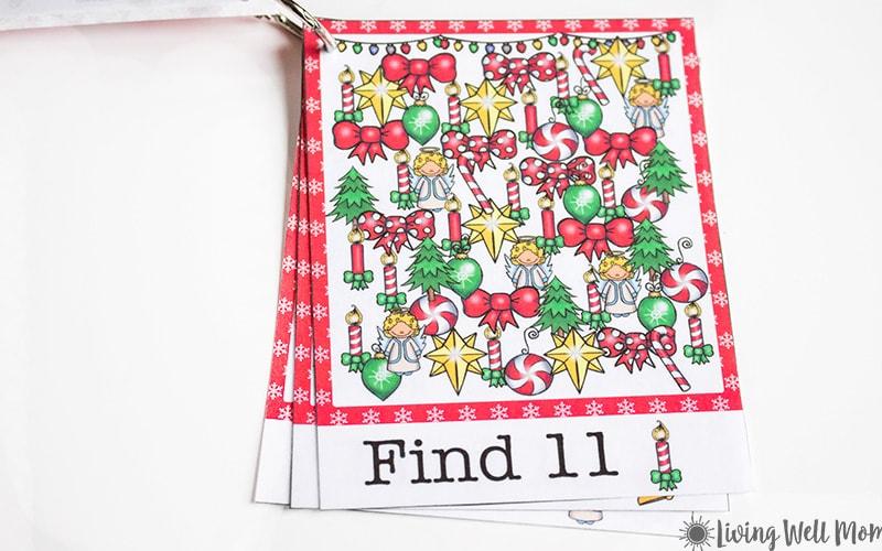 Christmas Printable Ispy Cards