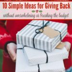 10 Simple Ideas for Giving Back Without Overwhelming or Breaking the Budget