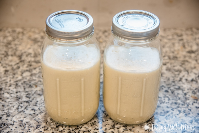 Storing paleo eggnog in mason jars