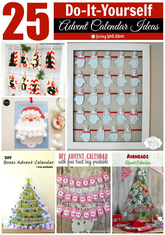 25 Diy Advent Calendar Ideas Homemade Advent Calendars