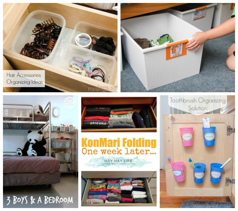 Bed & Bath Simple Organization - Ready to tackle clutter but not sure where to start? Here's 25+ simple organizing ideas for busy moms from moms that really work. From a simple toothbrush storage solution to getting kids to put their clothes away, these brilliant solutions will give you inspiration to fix those problem areas today.