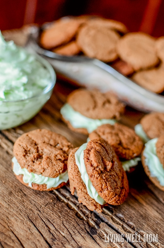 Deliciously spiced and perfectly chewy, these Chocolate Mint Sandwich Cookies never last long! It's a good thing this favorite Christmas cookie recipe is so easy to make!