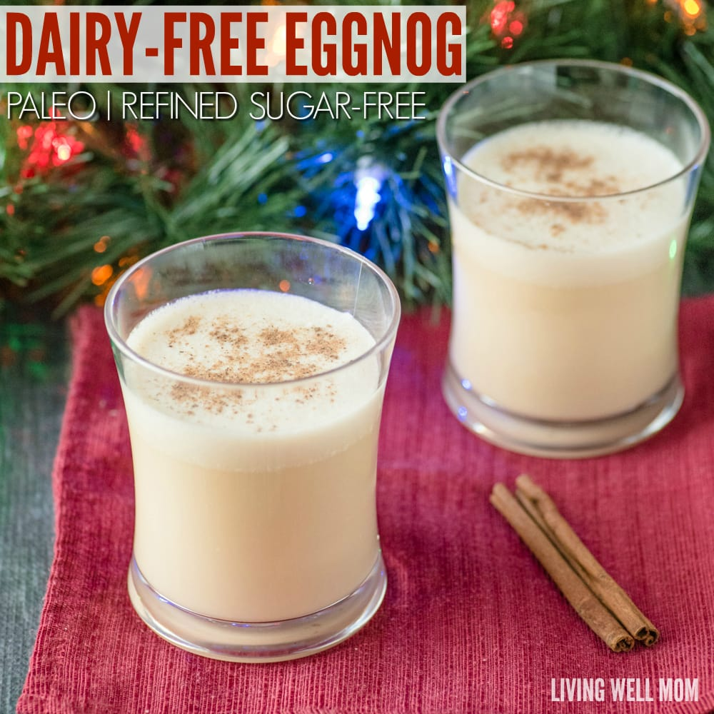 Dairy free eggnog almond milk paleo refined sugar free recipe it this dairy free eggnog recipe is deliciously creamy and even with no refined sugar it forumfinder Image collections