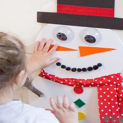 Pin the Nose on the Snowman Activity
