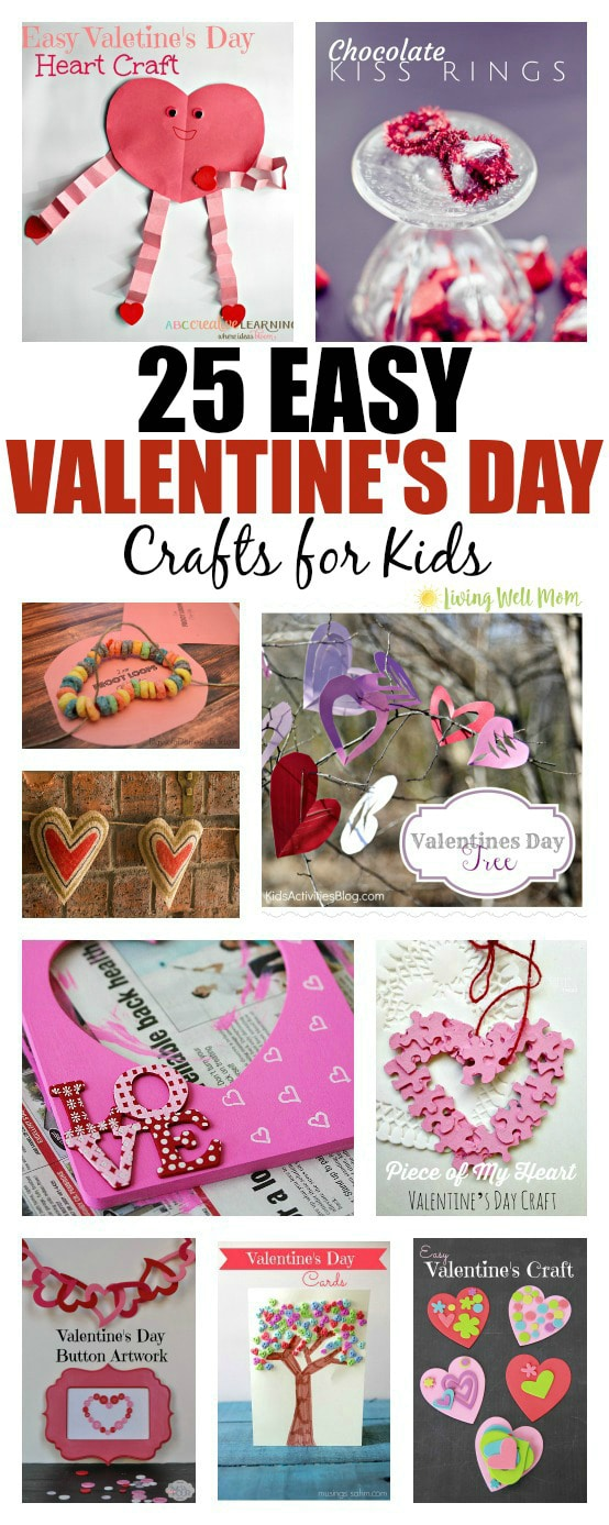25 easy valentine 39 s day crafts for kids living well mom for Fun crafts to do with your mom