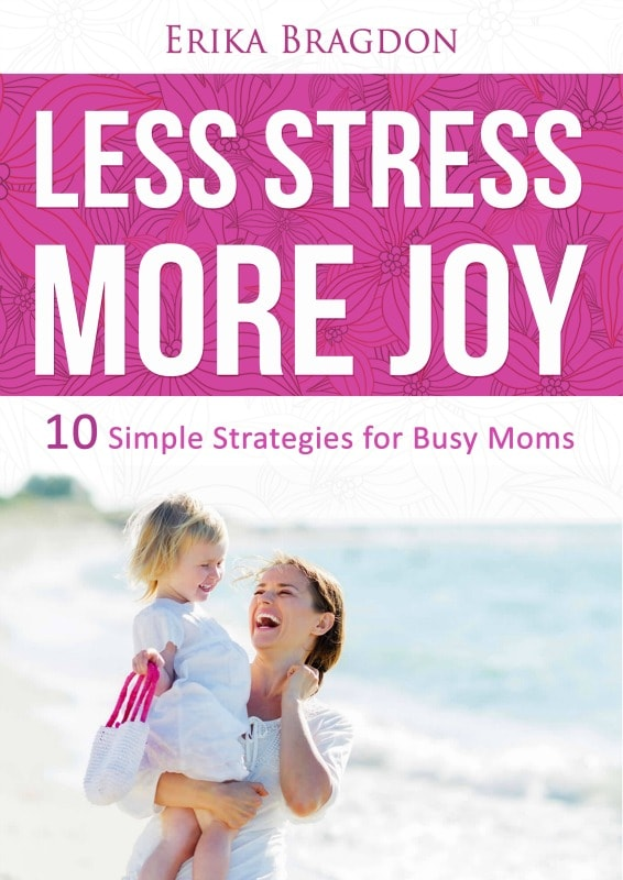 Tired of just barely getting by? Less Stress, More Joy: 10 Simple Strategies for Busy Moms is a newly released short ebook that will teach you how to say goodbye to endless to-do lists, plus learn how to make time for what really matters, including yourself! Grab your free copy here!
