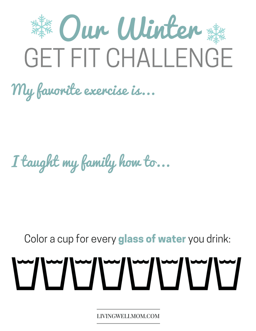 A family challenge is always a fun way to stay active.