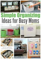 Simple Organizing Ideas for Busy Moms