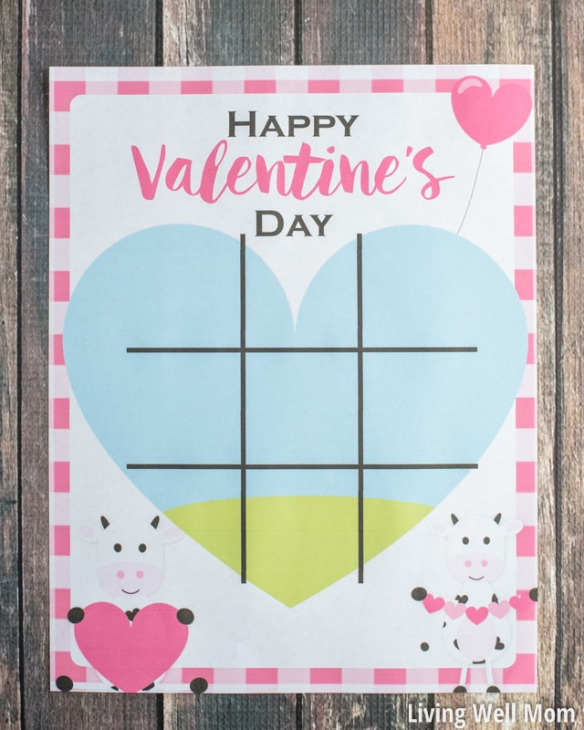 Sassy image for valentine tic tac toe printable