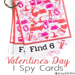 Valentine's Day I Spy for Kids {Free Printable}
