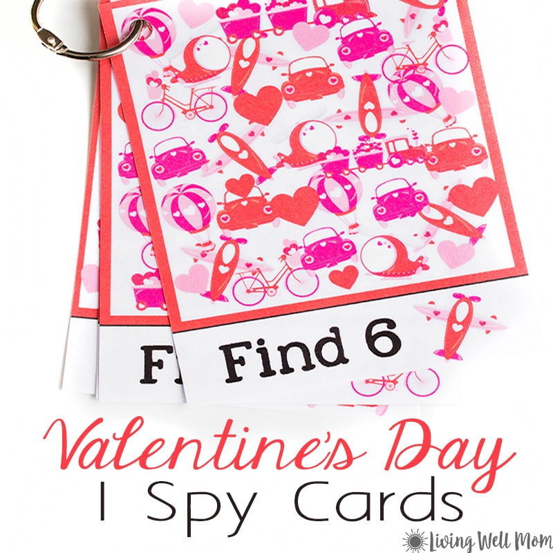 This fun FREE PRINTABLE Valentine's Day I Spy for Kids set is a great way to encourage counting skills and attention to detail for young children. Plus it's perfect for keeping kids busy when you're on-the-go! Download your free printable here.