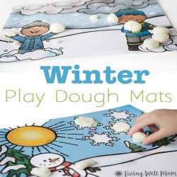 Winter Scene Playdough Mats {Free Printables}