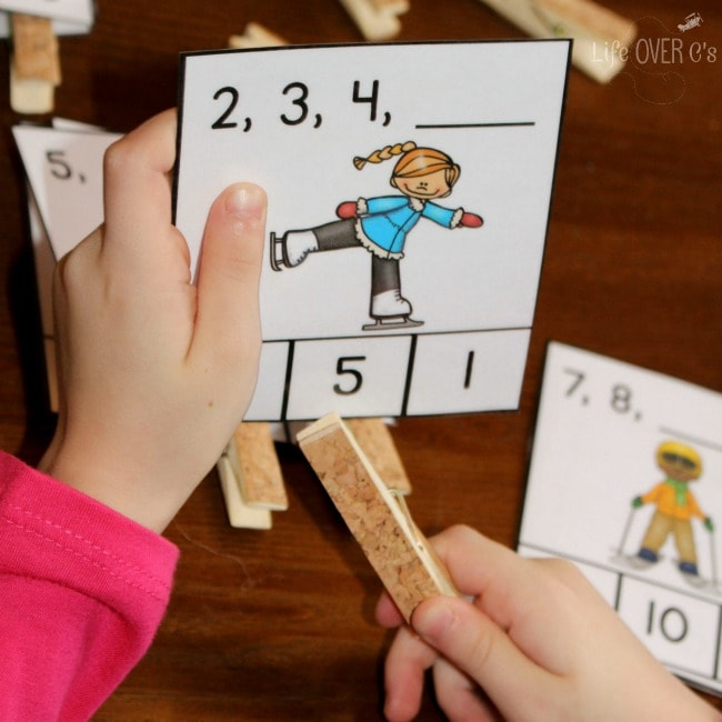 math learning activity for little kids